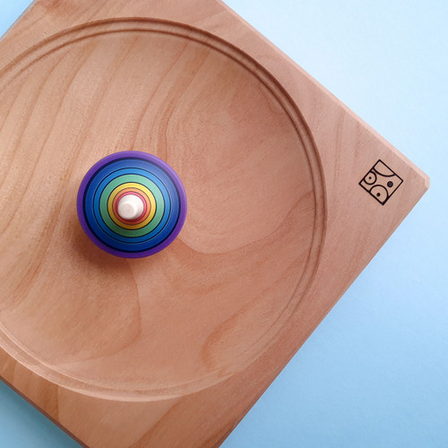 Mader Wooden Board for Spinning Top | 15 cm for Endless Play Collective (Cherry)