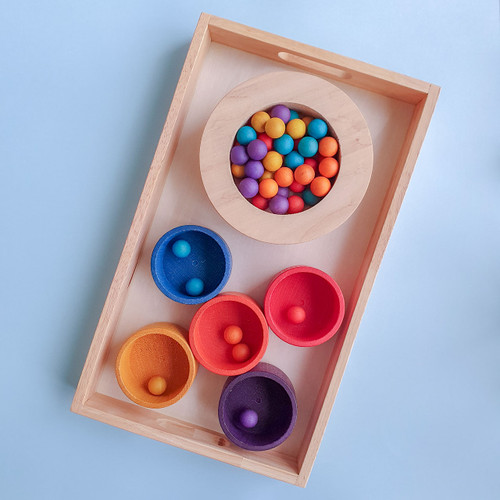 Montessori Activity Nesting Trays   Set of 3 for Endless Play Collective