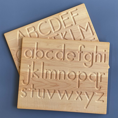 From Jennifer Wooden Reversible Alphabet Tracing  Board for Endless Play Collective