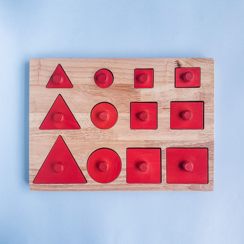 Q Toys Montessori Toddler Knob Shape Puzzle for Endless Play Collective