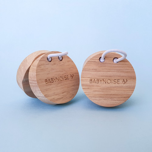 Babynoise Music Intrument Toys Wooden Castanets