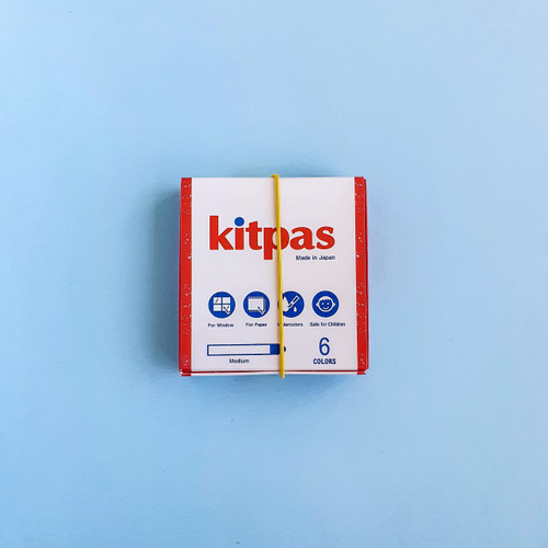 Kitpas Medium Stick Crayons 6 Colours