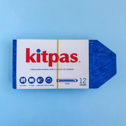 Kitpas 12 Art Crayons Medium with Holder