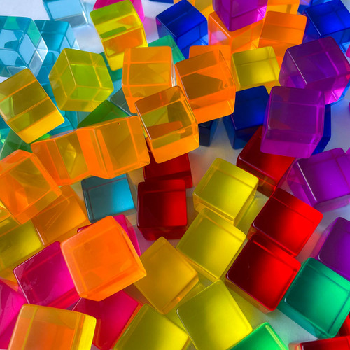 Rainbow Lucite Cubes | Set of 10, 20 or 100 | Endless Play Collective
