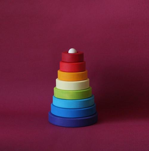 Skandico Rainbow Cone Stacker | Red or Purple
