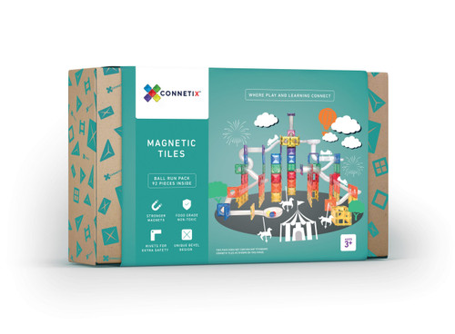 Connetix Magnetic Building Tiles | Magnetic ball run for Endless Play Collective