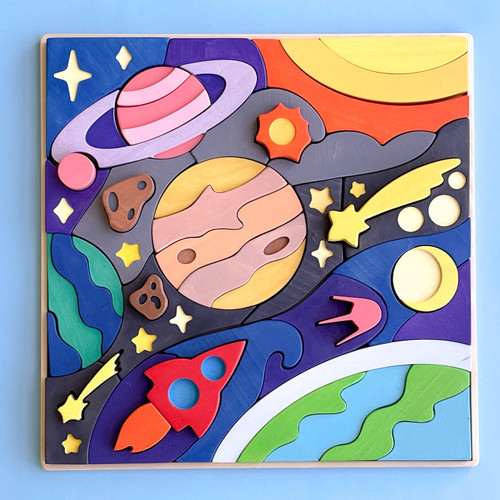 Snavvy Handmade Wooden Space Puzzle exclusive to Endless Play Collective