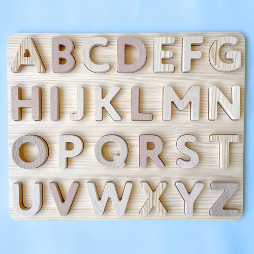 Snavvy Natural Wooden Alphabet Puzzle exclusive at Endless Play Collective