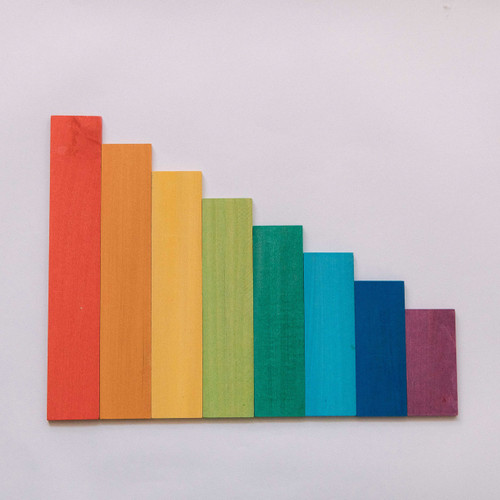 Avdar Medium Stepped Building Boards | Rainbow or Pastel for Endless Play Collective