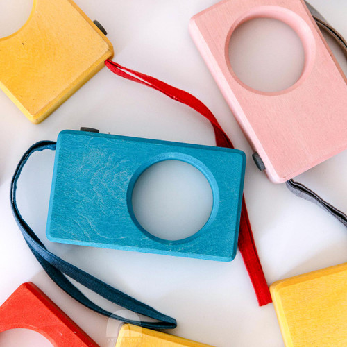 Avdar Wooden Camera | Yellow for Endless Play Collective