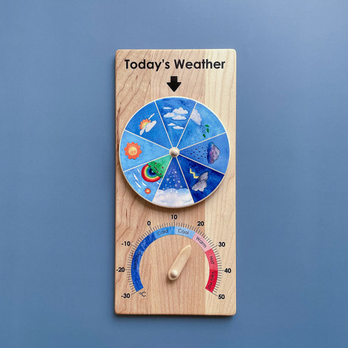From Jennifer Wooden Weather Chart for Endless Play Collective