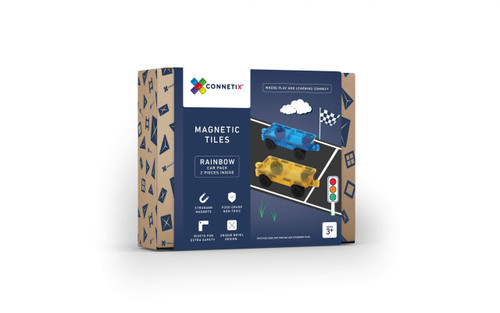 Connetix Magnetic Building Tiles | 2 Piece Car Pack for Endless Play Collective