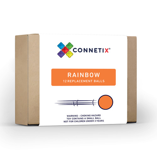 Connetix Magnetic Building Tiles   12 piece Rainbow Ball Pack for Endless Play Collective