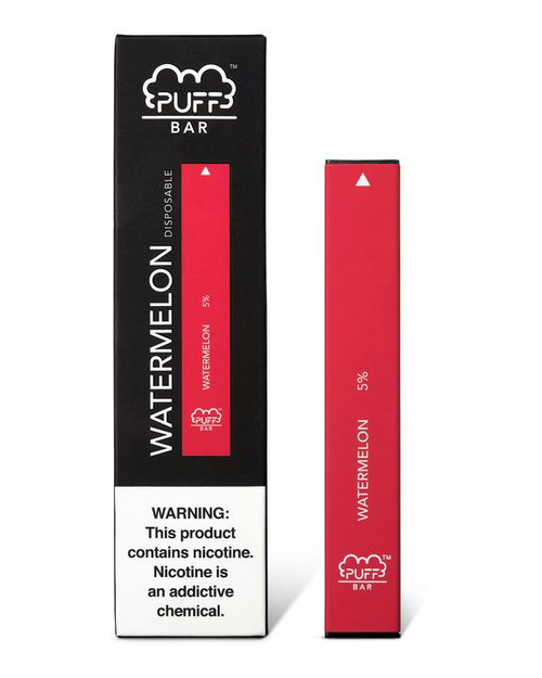 Red puff bar disposable vape box