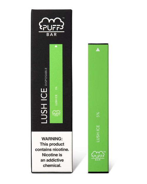 Green puff bar disposable vape box