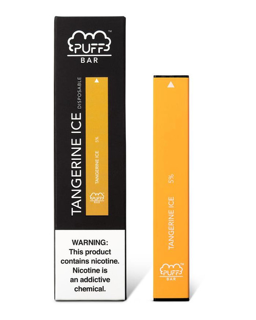 Orange puff bar disposable vape box