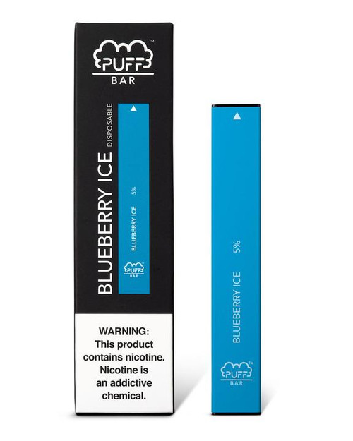 Blue puff bar disposable vape box