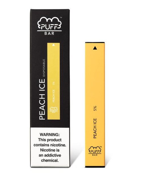 Yellow Orange puff bar disposable vape box
