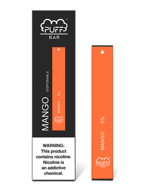 Orange Red puff bar disposable vape box