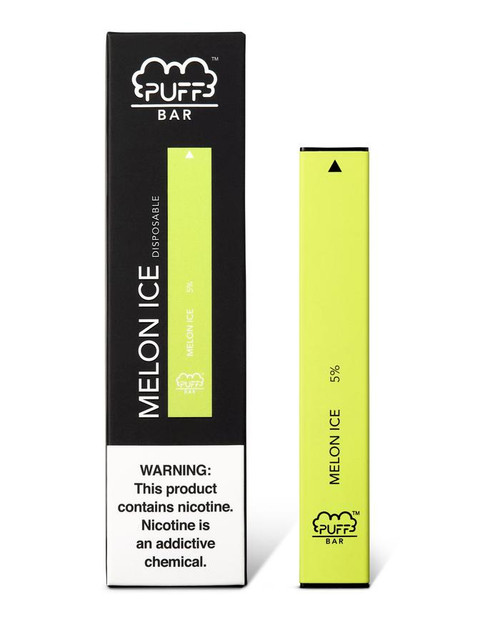 Neon Yellow Green puff bar disposable vape box