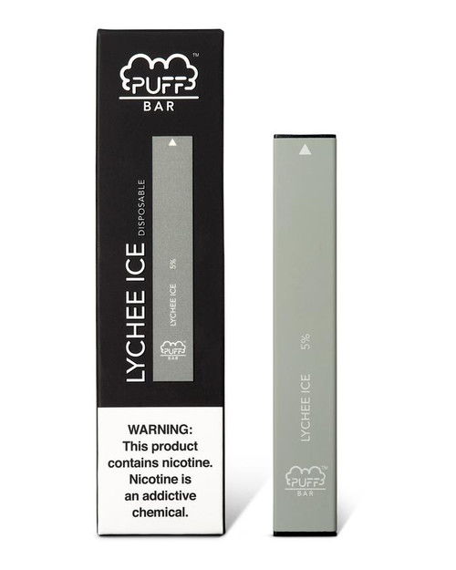 grey puff bar disposable vape box