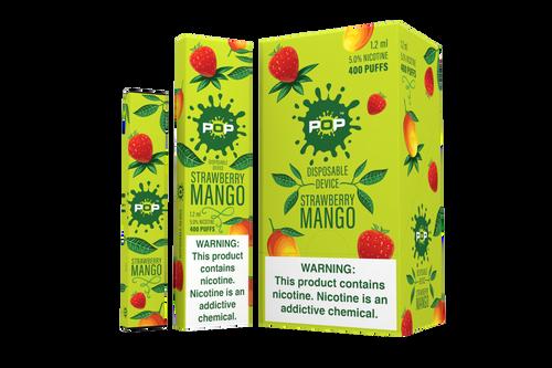 Pop Disposable bar vape pen device green box pack splatter mark