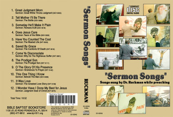 Sermon Songs - Ruckman CD