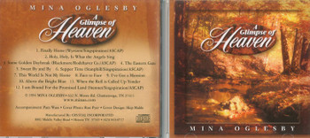 Glimpse of Heaven - Mina Oglesby CD