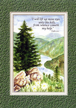 KJV Scripture Encouragement Card - Mountains