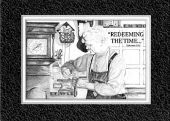 KJV Scripture Encouragement Card - Clock Repair Man