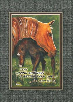 KJV Scripture Encouragement Card - 2 Horses