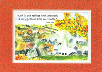 KJV Scripture Sympathy Card - Church