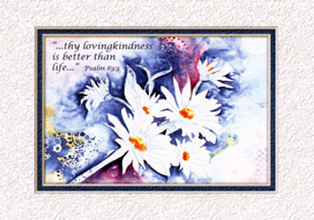 KJV Scripture Blank Greeting Card - Daisies