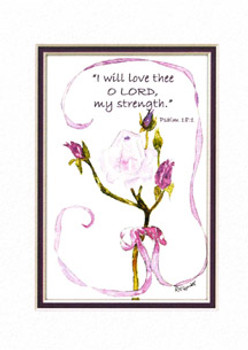 KJV Scripture Birthday Card - Pink Tea Rose