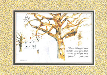 KJV Scripture Blank Greeting Card - Snow Scene