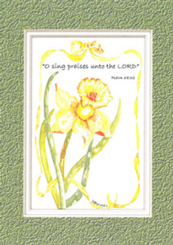 KJV Scripture Birthday Card - Yellow Daffodil