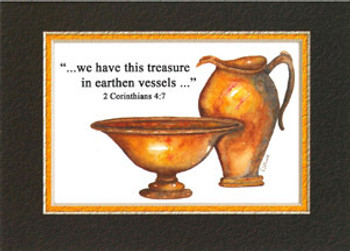 KJV Scripture Blank Greeting Card - 2 Vessels