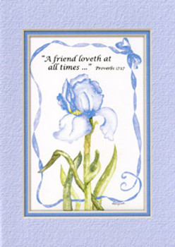 KJV Scripture Blank Greeting Cards - Blue Iris