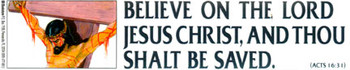 Believe on the Lord Jesus Christ - Sticker