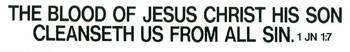 The Blood of Jesus Christ - Magnet