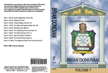Brian Donovan Sermons on MP3 - Volume 7