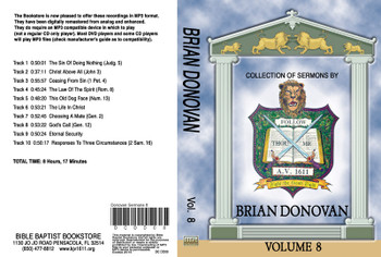 Brian Donovan Sermons on MP3 - Volume 8