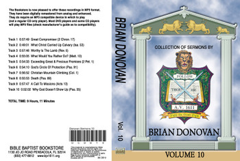 Brian Donovan Sermons on MP3 - Volume 10