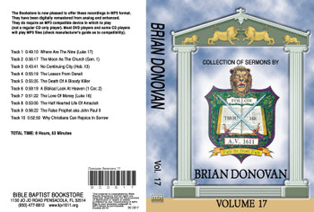Brian Donovan Sermons on MP3 - Volume 17