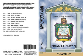 Brian Donovan Sermons on MP3 - Volume 19