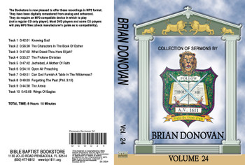 Brian Donovan Sermons on MP3 - Volume 24