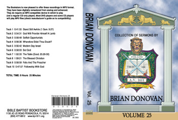 Brian Donovan Sermons on MP3 - Volume 25