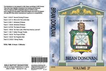 Brian Donovan Sermons on MP3 - Volume 27