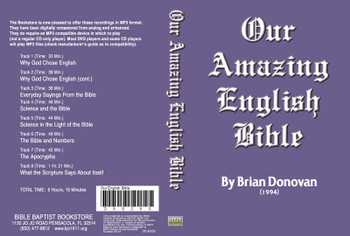 Brian Donovan: Our Amazing English Bible - MP3