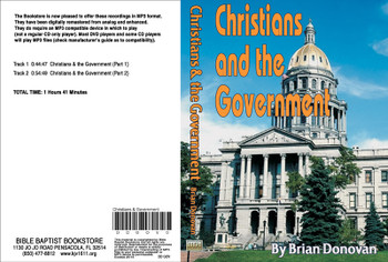 Brian Donovan: Christians and the Goverment - MP3